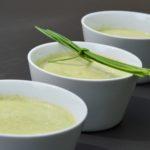 La soupe de courgette glacée au gingembre