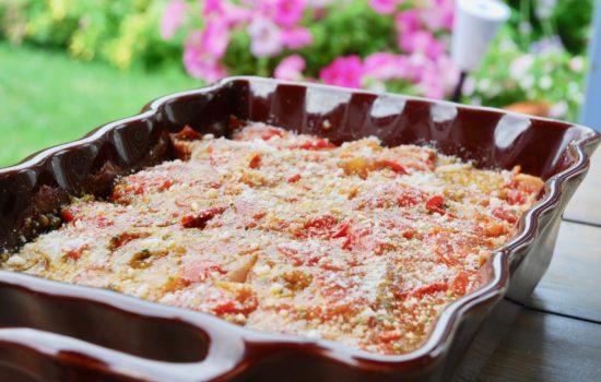 Italian style eggplant gratin