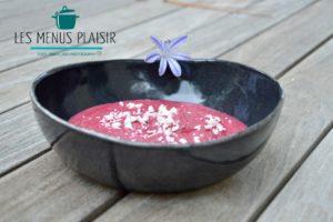 La recette de la purée de betterave yaourt et zaatar