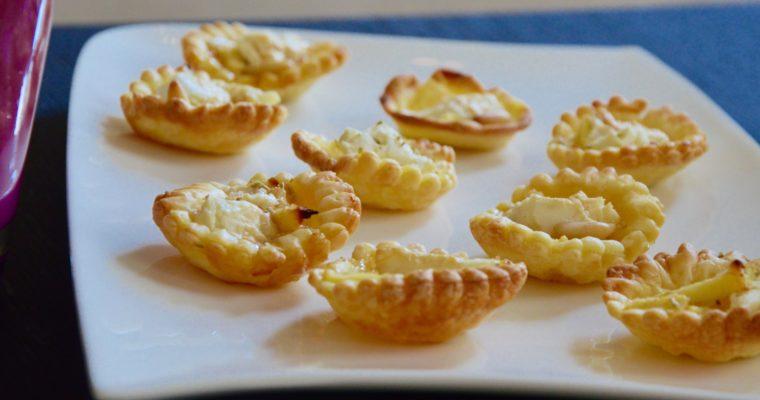 Mini tartelettes pommes, chèvre, miel