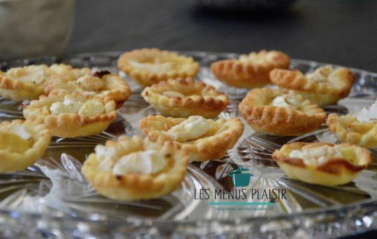 Mini goat cheese apple & honey tart