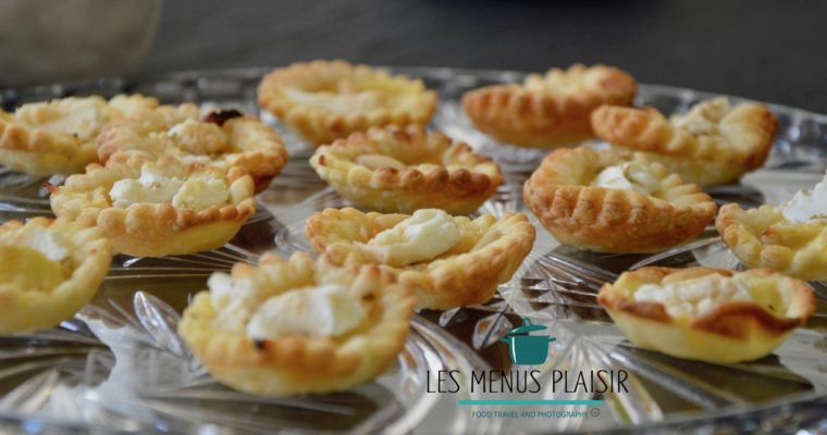 Mini goat cheese apple & honey tart