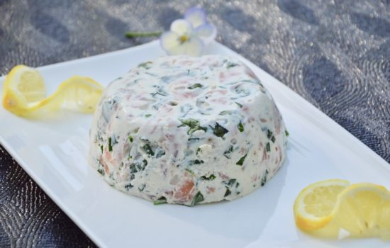 Smoked salmon and ricotta terrine