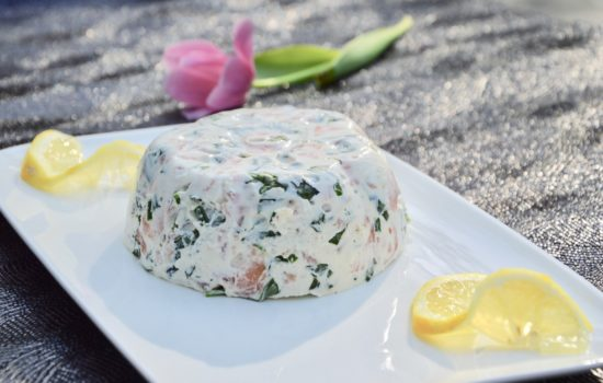 Terrine de saumon au bouquet d'herbes fraîches
