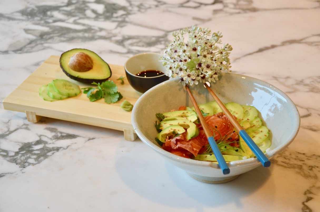 Salmon & Avocado Chirashi my Way