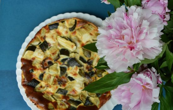 La tarte au chèvre à la menthe et aux légumes de Christine