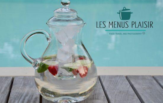 L'eau parfumée concombre menthe fraise
