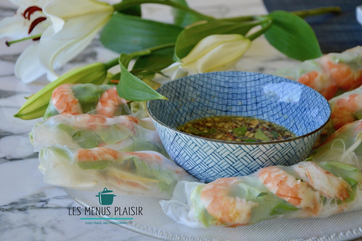 My Version of Spring Rolls  & Emilie's Dipping Sauce
