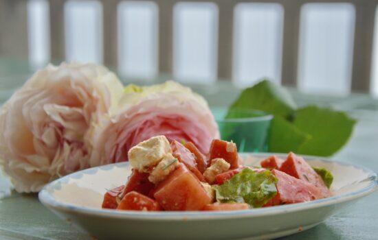 la salade de pastèque à la feta de Dorothée