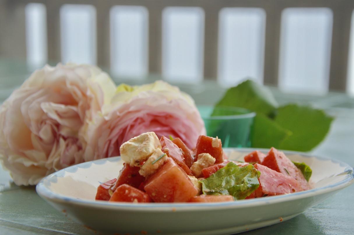 Feta cheese & watermelon salad