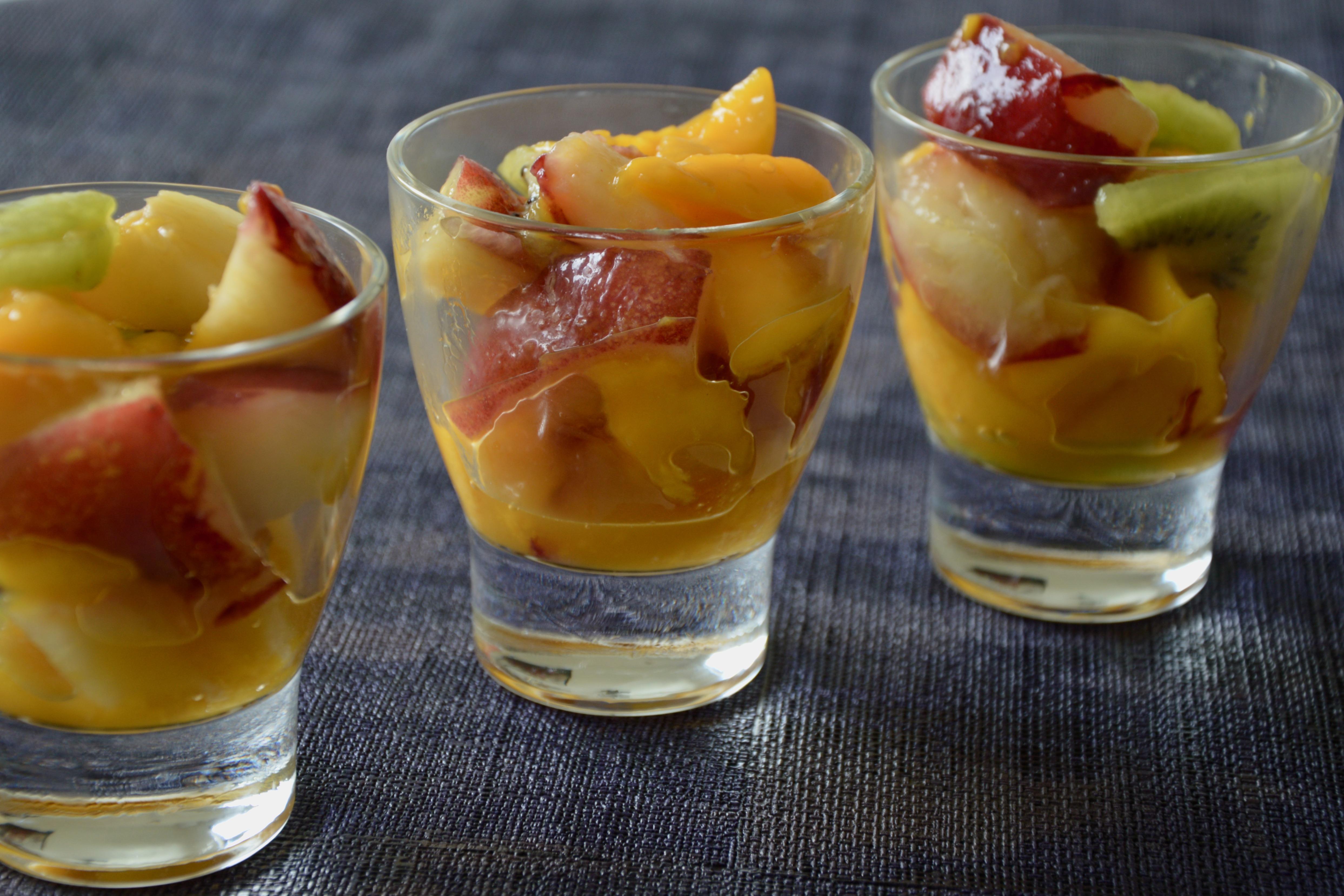 nectarine mango & kiwi salad