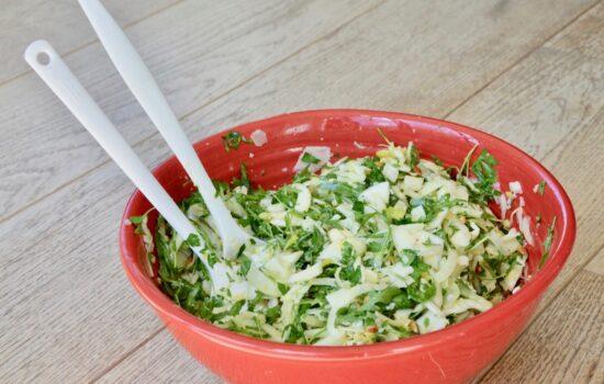 Salade fenouil, roquette et parmesan de Rosetta