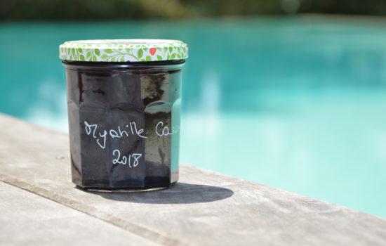 La confiture de myrtilles au caramel