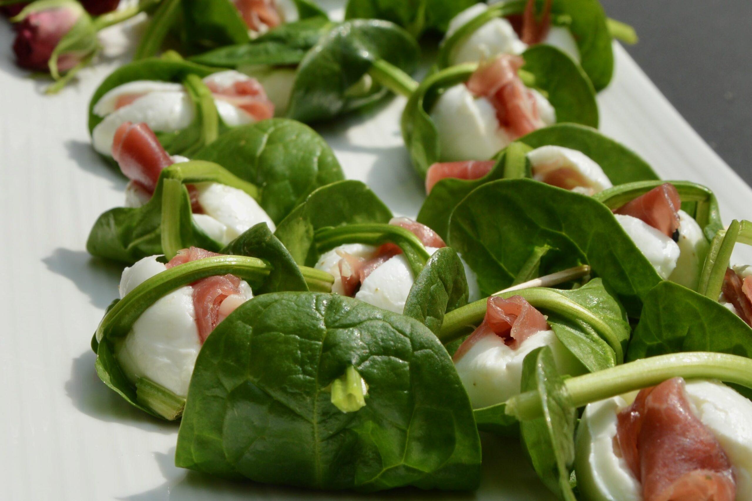 Surprise d'épinards frais