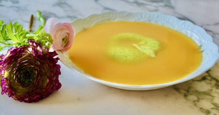 creamed zucchini & pumpkin soup