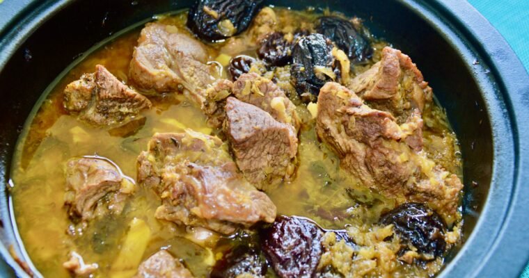 Lamb pear and prune tajine