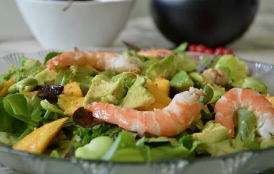 christine's mango avocado and shrimp salad