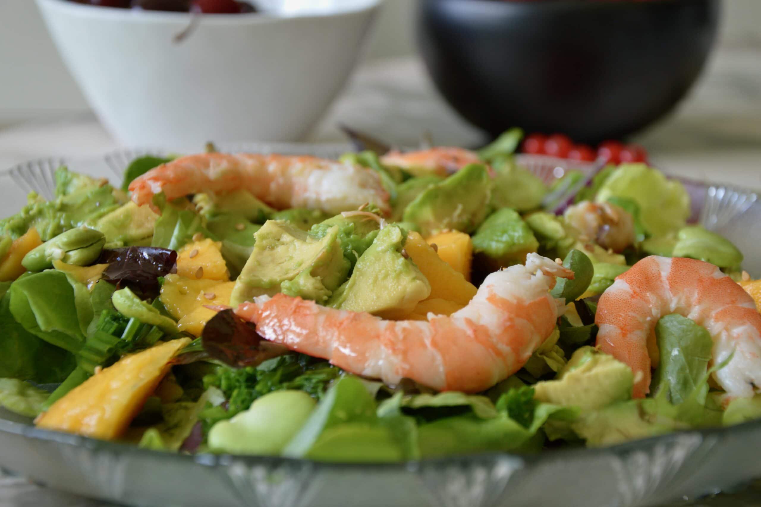 christine's mango avocado and shrimp salad
