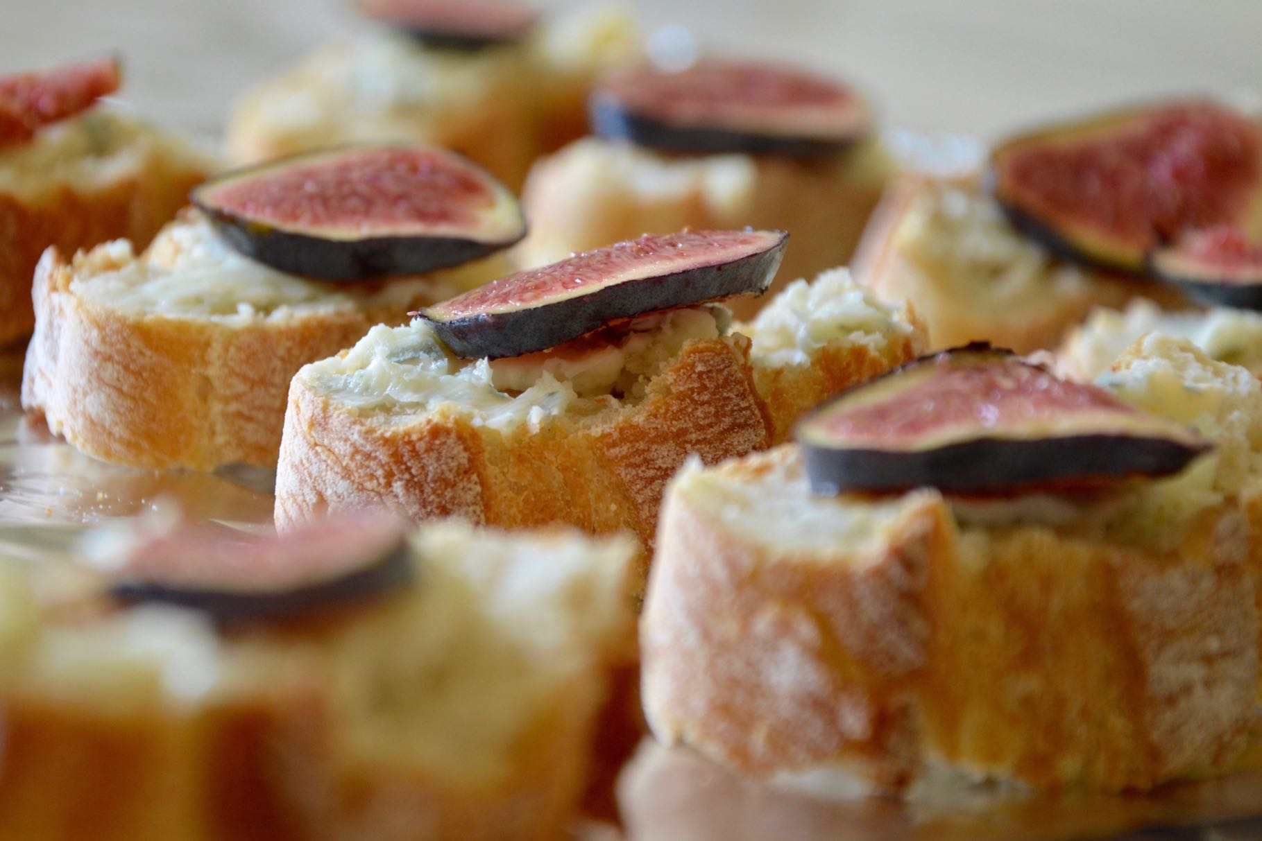 toasts figues – gorgonzola