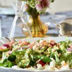 salade de quinoa, amandes, feta et grenade de Jordan
