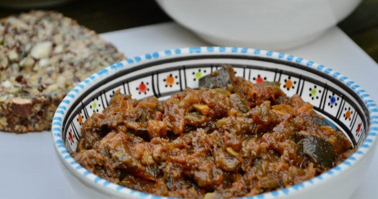 Asmaa's smocked aubergine spread