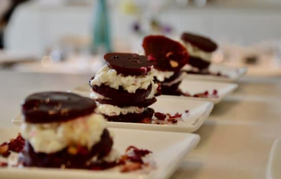 Beetroot & goat cheese millefeuille
