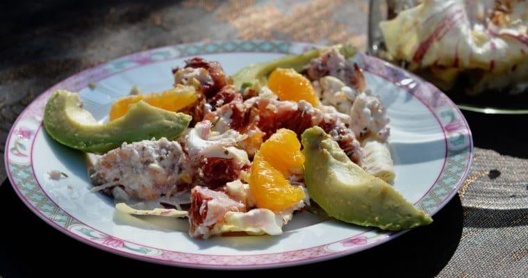 Salade de radicchio, agrume et burrata de Magali