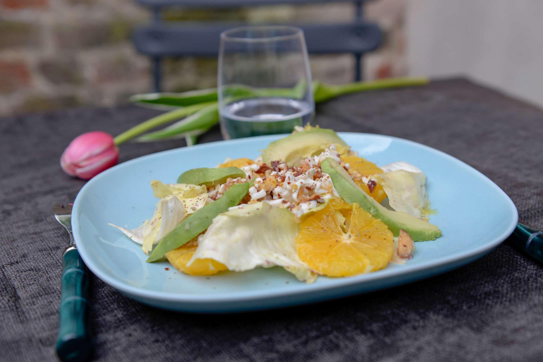 Radicchio citrus and burrata salad