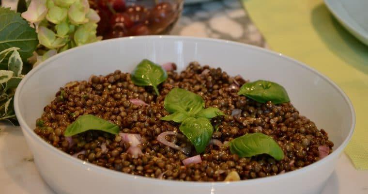 Salade de lentilles aux échalotes